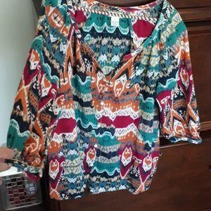 Abstract Lucky Brand shirt (212-0)